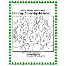 activity pack color by number