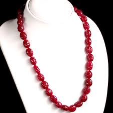 ruby bead necklace images Natural carved red ruby beads necklace JPG