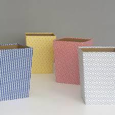 Wastepaper Basket Recycled Geometric Print Waste Paper Bin Medium By Heart U0026 Parcel