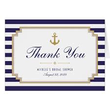 nautical thank you cards stylish striped nautical thank you note card zazzle
