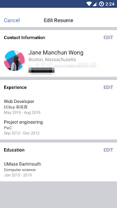 How Do You Post A Resume On Linkedin Facebook Tests Cv Resume Feature To Take On Linkedin Business