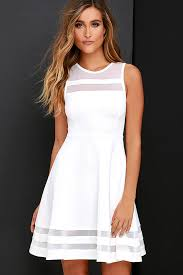 white dresses ivory skater dress white homecoming dress 48 00