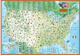 Map Pictures Of The United States by Children U0027s Map Of The United States Maps Com