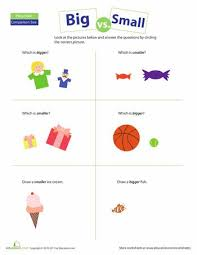 kindergarten activities big and small 53 best preschool worksheets images on pinterest learning speech