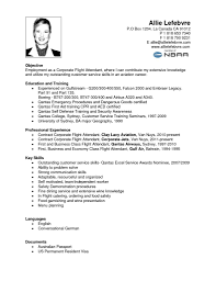 Sample Resume Objectives First Job by Resume For Cabin Crew Fresher Free Resume Example And Writing