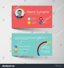 modern red teal simple business card stock vector 153765419