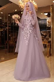 wedding dress muslimah pınar şems salkım abiye lila en uygun fiyat ve kalite