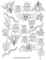 coloriage insectes  Embroidery  Pinterest  Malen Ausmalen und
