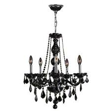Crystal And Black Chandelier Black Hardware Included Candle Style Chandeliers Hanging