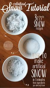 how to make artificial snow 3 quick u0026 easy eco friendly u0027recipes