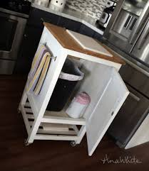 kitchen cart ikea with trash bin large size of portable kitchen i have a small trash can in there and the back opens up for full access someone commented on instragram you all are so smart that the front door