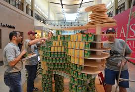 19 how to build a canned food sculpture photos alameda