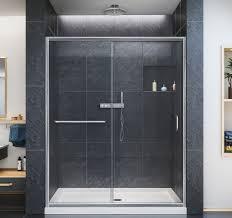 60 Shower Doors Dreamline Infinity Z 56 To 60 In Frameless Sliding Shower Door