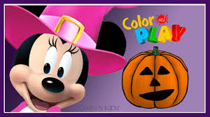 minnie mouse halloween game mickey mouse clubhouse color u0026 play