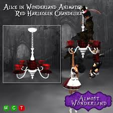 Tea Cup Chandelier Second Life Marketplace Alice In Wonderland Animated Red