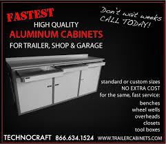 race car trailer cabinets technocraft cabinets to display at pri in indianapolis
