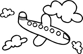 basic cloud airplane coloring wecoloringpage