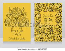 Wedding Invitations India Template Wedding Invitations Indian Style Traditional Stock Vector