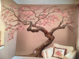 cherry blossom tree mural lapse artisan rooms