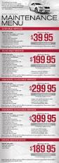nissan car service u0026 repairs phoenix maintenance guide u0026 menu
