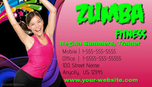 Fitness Business Card Template Zumba Fitness Business Card Template Postermywall