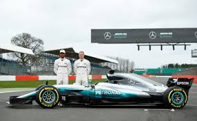 mercedes formula one hamilton bottas unveil mercedes formula one car