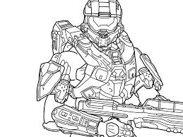 halo master chief coloring pages free printable minecraft