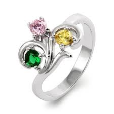 mothers day birthstone rings to the heart 3 swirl birthstone ring s addiction