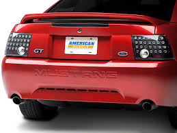 sn95 mustang tail lights axial mustang black solid led tail lights 49064 99 04 all