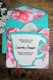 tea party bridal shower invitations diy bridal shower tea party invitations