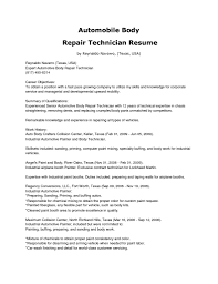 Resume Samples In Usa by Automotive Technician Resume Examples