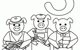 pigs houses colouring pages coloring pages kids