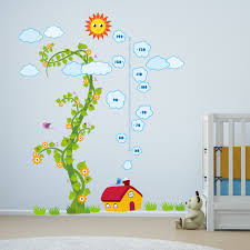 wall stickers uk wall art stickers kitchen wall stickers ws9042 nursery magic bean grow chart