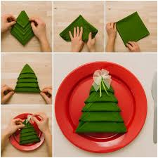 diy tree napkin fold idea step by step step by step