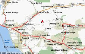 ventura county map rancho de la cumbre