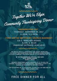 elgin community thanksgiving dinner elgin alano club