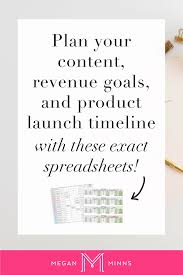 Setting Smart Goals Worksheet How To Plan Your Content Revenue Goals And Product Launch