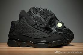 basketball black friday ship box air retro 13 black cat best aaa quality jumpman deal