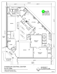 as built floor plans fully built out restaurant pollack investments