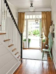 Entry Door Curtains Front Door Curtains Farmhouse Entry Idea In With White Walls