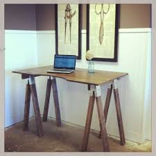 furniture inspiring sawhorse desk design for computer desk