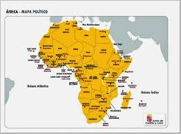 mapa de africa me gustan las sociales áfrica mapa político