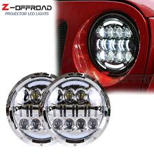 car light bulb replacement 7 80w led headlight bulb replacement 7inch car driving multi beam