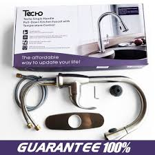 techo modern stainless steel kitchen sink faucet single handle