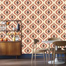 graham u0026 brown 15195 trippy wallpaper orange amazon com