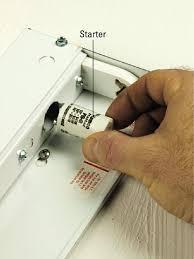 how to change a fluorescent light fixture change fluorescent light starter www lightneasy net
