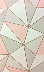 geometric rose gold copper pink u2013 wallpapersales