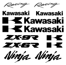 logo kawasaki large kawasaki decal set awesome graphics