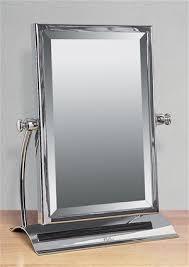 Free Standing Bathroom Mirrors Miller Classic Chrome Bathroom Rectangular Freestanding Table