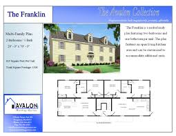 Multi Family Homes Plans House Plan Two Story Modular Floor Showy The Franklin Multi Family
